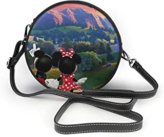 Hot Air Balloon Mickey And Minnie Crossbody Bags For Women, Lightweight Purses Handbags Leather Shoulder Bag With Adjustable Shoulder Strap
