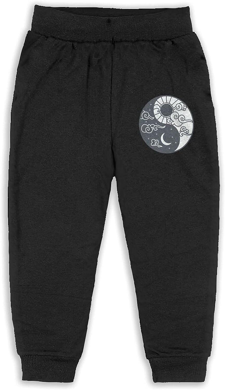 Unisex Kids Sun Moon Stars Graphic Jogger Pants Cotton Hip Hop Pants Personality Pants for Girls