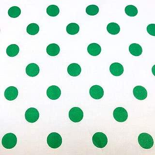 Polka Dot Printed Large White Background 100% Cotton Printed Fabric 43/44
