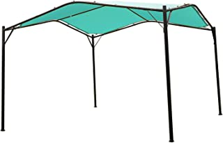 Mefo garden 12 x 12 ft Outdoor Patio Swan Gazebo Canopy for Backyard, Iron, 250gsm Polyester Canopy, Turquoise