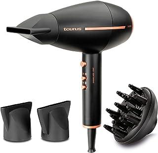 Taurus Shining 2400 Ionic - Secador de pelo iónico antiencrespamiento. Gama Pro Care. 2400W. 2 velocidades. 3 temperaturas. Diseño compacto. Aire frío. 2 concentradores y difusor