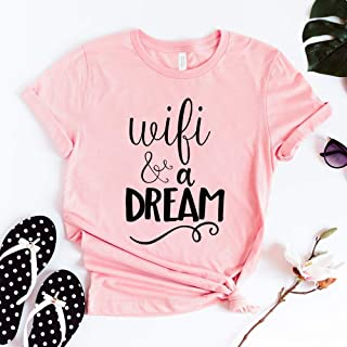 Wifi And A Dream T-Shirt, Funny Sayings T Shirt, Gift For Her, WiFi Pizza Sweatpants and Big Dreams Shirt, All You Need Is WiFi And Dream T-Shirt, Internet T Shirt