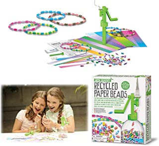 4M GG4318 Green Creativity Recycled Paper Beads