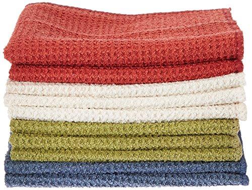 Eurow - Set di 10 panni assorbenti in microfibra ad asciugatura rapida, in colori assortiti
