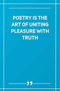 Poetry Is The Art Of Uniting Pleasure With Truth: Wide Ruled Lined Paper Notebook | Gradient Color - 6 x 9 Inches (Soft Gl...