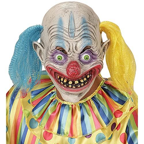 WIDMANN 00403?Máscara Psycho Payaso con pelo bicolor, talla única