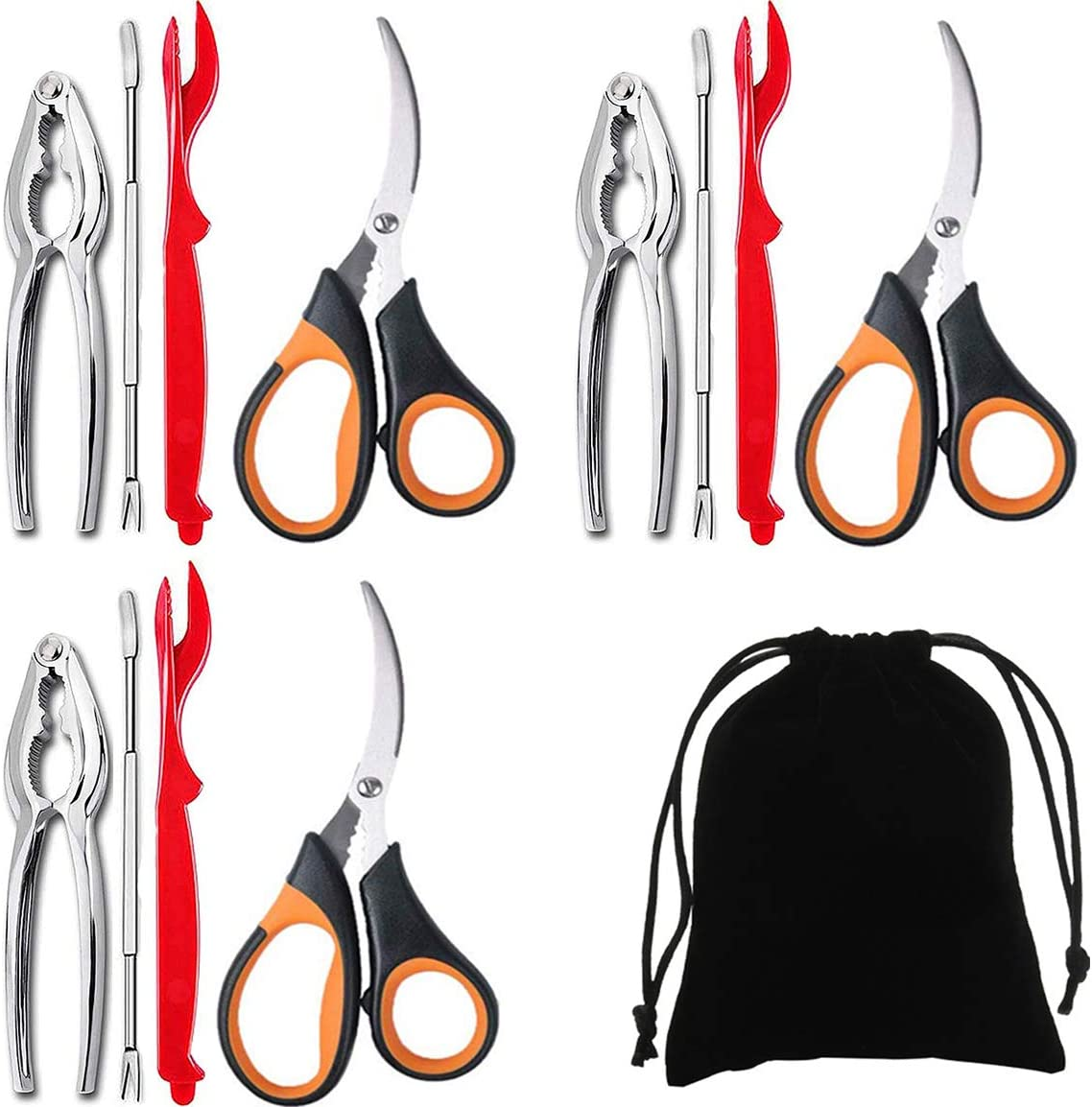Artcome Daily bargain sale 13 Piece Seafood Tools Set Crab for 3 including People Max 90% OFF