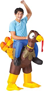 Turkey Rider Inflatable Outfit Funny Theme Party Halloween Fancy Costume