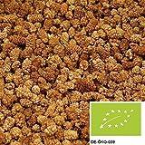 1kg weiße getrocknete BIO Maulbeeren, leckere Trockenfrüchte ungeschwefelt und ungezuckert