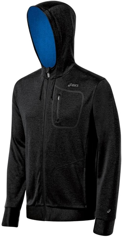 AsicsメンズExertionジャケットジェットブラック/Electricスウェットシャツ XL ブラック