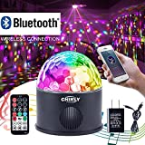 CHINLY LED Disco Ball Light MP3 Music Bluetooth Speaker USB Portable 9W 9color