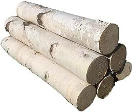 White Birch Log Set for Fireplace 24