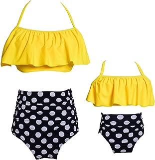 Summer Cute Baby Girls Bikini Set Family Matching Swimwear Mommy and Me Swimsuit(Prime