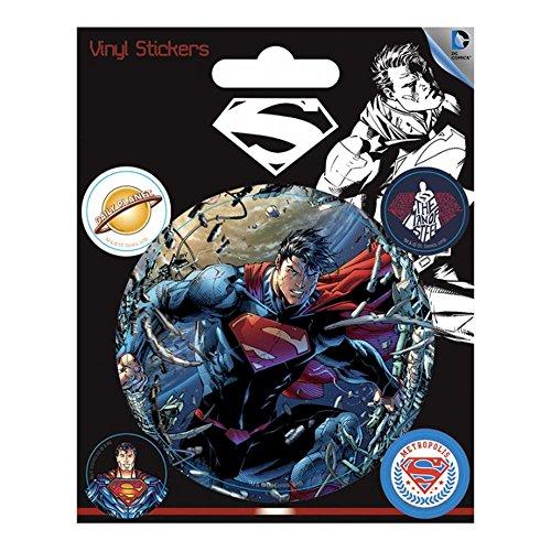 Pyramid International DC Comics (Superman) Stickers muraux en Vinyle, Papier, Multicolore, 10 x 12.5 x 1.3 cm