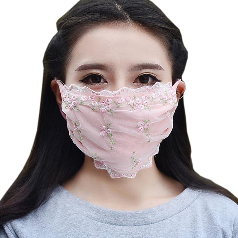 法律によりかき混ぜる確立夏の薄いコットンマスク、レースの花