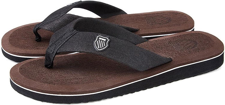 STVYtoy 2021 Summer Men Flip Flops Beach Sandals Anti-Slip Casual Shoes,D,7.5