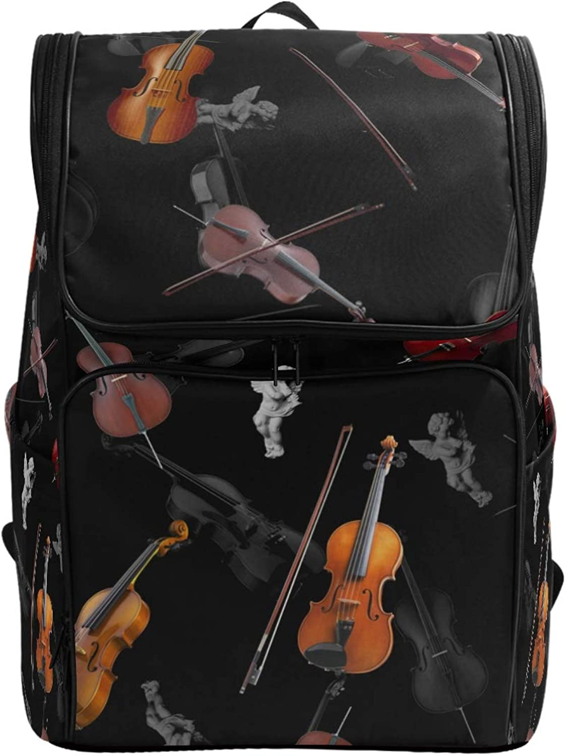 MONTOJ Creative Violins Outdoor Hiking Backpack Hiking & Travelling Backpack with Laptop Compartment & Camping Backpack