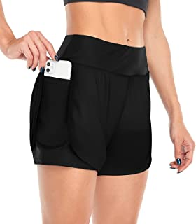 Viracy Women's 2 in 1 Running Shorts Workout Athletic Gym Yoga Short with Phone Pocket
