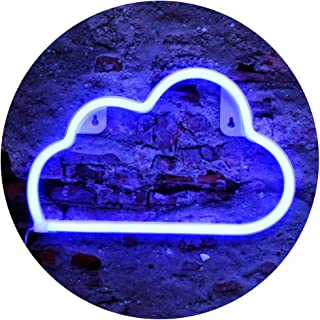 Cloud Shape Neon Lights, LED Cloud Decor Neon Signs Art Decorations Night Lights Fairy Cloud Lamp for Party Supplies, Children Kids Girls Gift-Cloud(Blue)