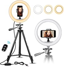 "10"" Selfie Ring Light with 50"" Extendable Tripod Stand & Flexible Phone.."