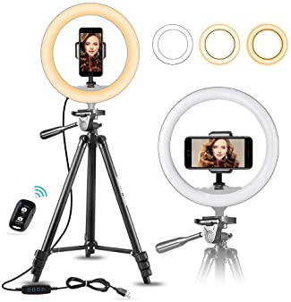 Explore ring light tripods for iPhones