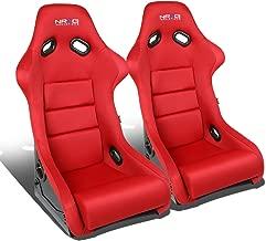 NRG Innovations FRP-300RD-X2 Bucket Racing Seats + Cushions