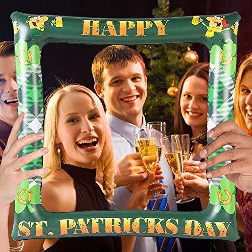 St Patrick's Day Party Opblaasbare fotolijst Creatieve Photo Booth Frame Mooie Selfie Props Ierse Party Decor voor Feestartikelen 80CM