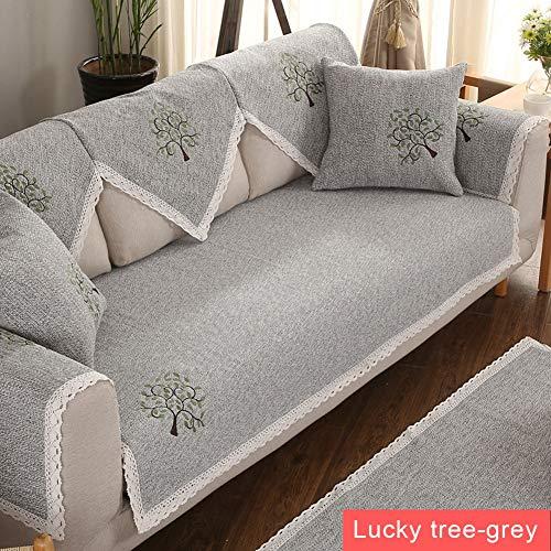 JESU Sofabezug Ecksofa L Form Spitze Couch Schmutzresistent Sofa Cover, Tuch Baumwolle Leinen Anti-Rutsch Sofa Handtuch Vier Jahreszeiten Universal Für Wohnzimmer,E,1pc/43 * 94inch(110 * 240cm)