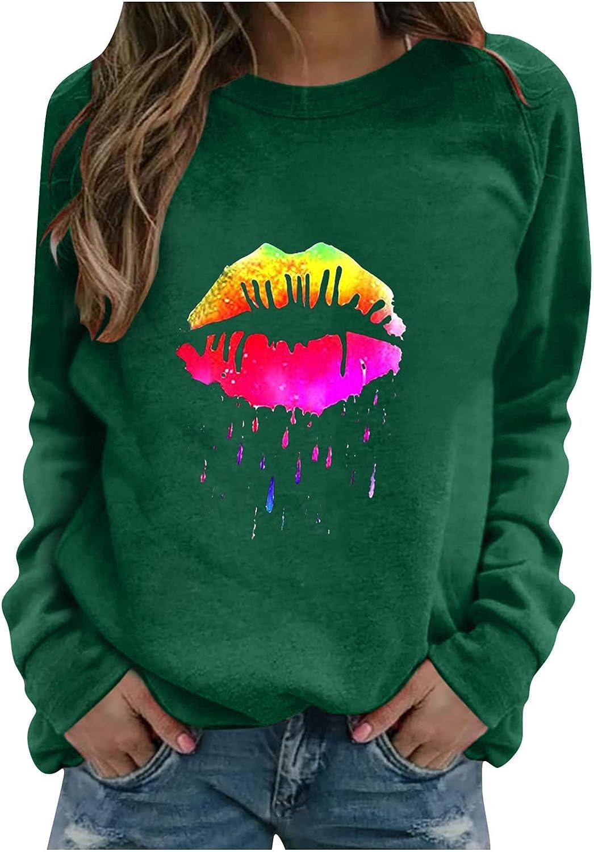 felwors Teen Girls Hoodies, Women Girls Casual Cute Printed Long Sleeve Sweatshirts Loose Pullover Tops Sweaters