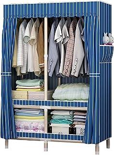 Combinaison Toile Vêtements Installation Montage Simple Armoire Adulte Tout Cadre en Acier de Tubes en Acier Renforcement ...