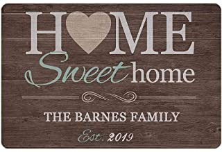 Personalized Doormat Text Name Sweet Home Custom Door Mats