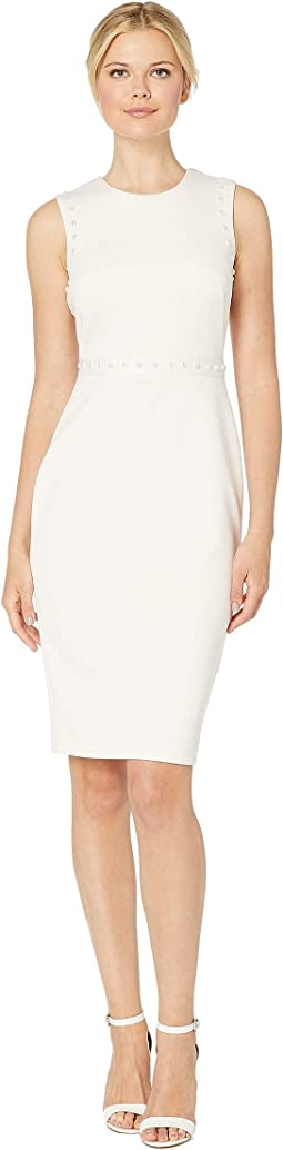 Sheath Dress with Pearl Detail