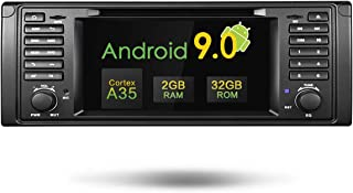 Amaseaudio Upgrade Android 9.0 Single Din Indash 7 inch TFT Touchscreen Car DVD Stereo Radio Player for BMW 5 Series E39 M5 Online GPS Navigating Head Units