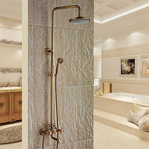 La nouvelle Finition laiton antique de salle de bain avec douche de pluie avec durable Robinets de laiton pour s'adapter