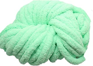 Light Green Jumbo Chenille Chunky Knit Yarn Chunky Knit Yarn,Super Chunky Knit Chenile Yarn,Chenille,Arm Knitting,Giant Bulky Knit Yarn,500g