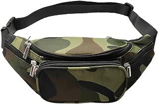 Camo Fanny Pack, 5 Pockets Women Men Adjustable Belt Large Capacity Camouflage Waist Bag Packs Travel Chest Shoulder Bag Phone Running Hiking Belt Bag (Camouflage)
