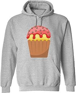 CCANE7 Men's Sudadera con Capucha Personalizada Cupcake Divertido gráfico Sudadera con Capucha