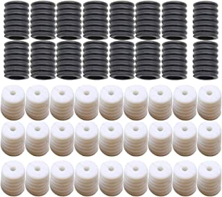 Exceart 200PCS Adjustable Buckle Silicone Buckle Ear Loop Buckles for Non-Slip Relax Ears Adult Kids Universal (100pcs Black and 100pcs White)