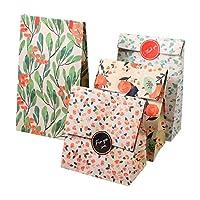 【12枚セット】ギフトバッグ 紙袋 紙バッグ 柄小袋 セット プレゼント お祝い キャンディ 工芸品 小物収納 丈夫 綺麗 (#1)