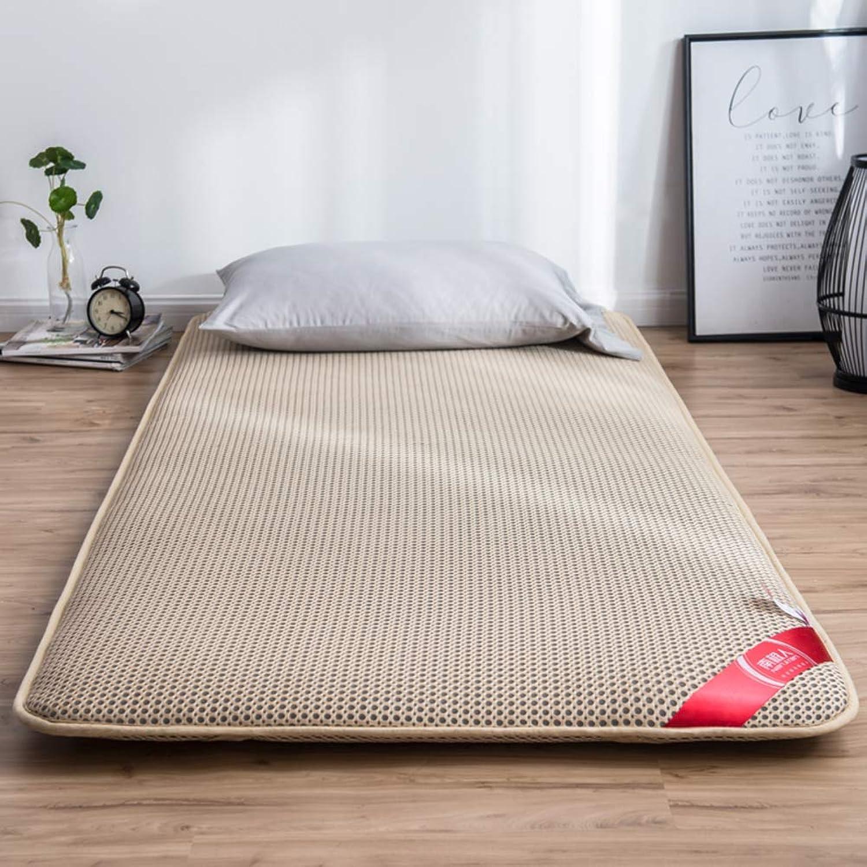 Breathable Tatami Mattress Mat, Futon Floor Mat Mattress Topper Foldable Sleeping Pad Non-Slip Student Dorm Cushion Mats -a 90x200cm(35x79inch)