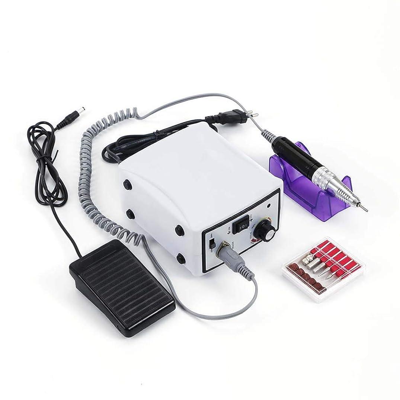 予備襟推定する30,000 rpmマシンネイル電気ネイルドリルコードレスアクリルネイルドリルマシンマニキュアペディキュアアートパウダーポリッシャージェルネイルグラインダーツール、ホワイト