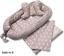 Kissen Baby Einschlagdecke mit Namen bestickt Pucktuch inkl Babynest