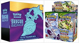 Pokémon Dragon Majesty Elite Trainer Box and Pokémon TCG Roaring Skies Booster Box Bundle, 1 of Each
