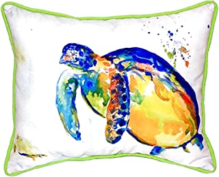 "Betsy Drake SN517 Sea Turtle II Pillow, 11"" x14"""