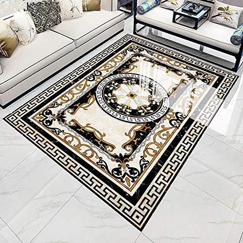 Mural de suelo impermeable autoadhesivo personalizado HD mármol 3D azulejos de suelo papel tapiz sala de estar Hotel decoración de lujo pegatina 3D-400 * 300cm