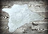 Fur Accents Faux Bear Skin Rug Faux Fur (5'x8', Polar Bright White)