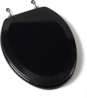 Toilet Seat,Rf,Wood,Ch Hng,Blk