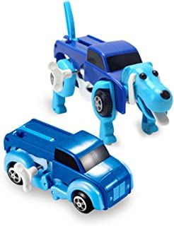 Rokment The Dog Car Transformer Novelty Clockwork Deformable Car New Year Kids Toy (colorful)