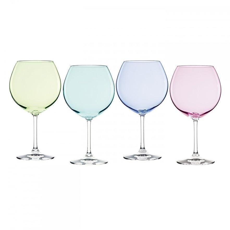 アーティスト賞賛する畝間Marquis by Waterford Vintage Ombre Aromatic Wine Set (Set of 4), Multicolor [並行輸入品]