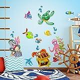 kina R00435 Adesivo murale per Bambini - Caccia al Tesoro - Misure Foglio 30x120 cm - Decorazione Parete, Adesivi per Muro, Carta da Parati
